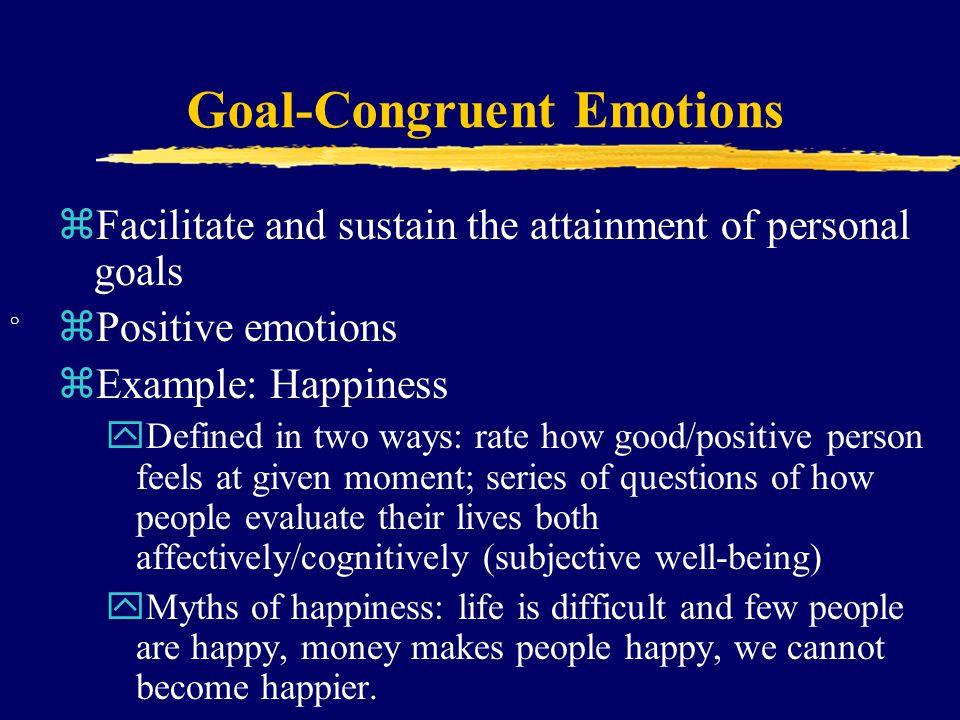 Goal-Congruent Emotions