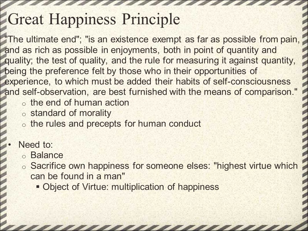 Great Happiness Principle