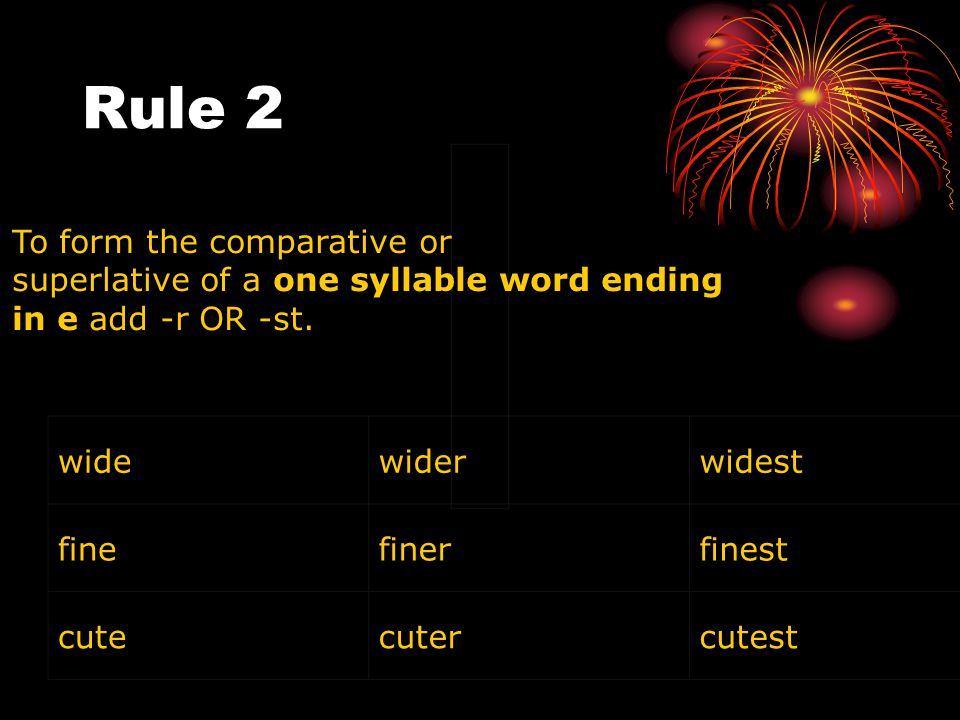 Rule 2 To form the comparative or