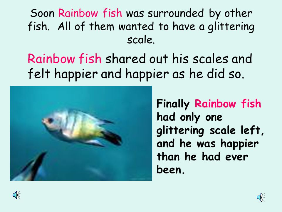 Soon Rainbow fish was surrounded by other fish