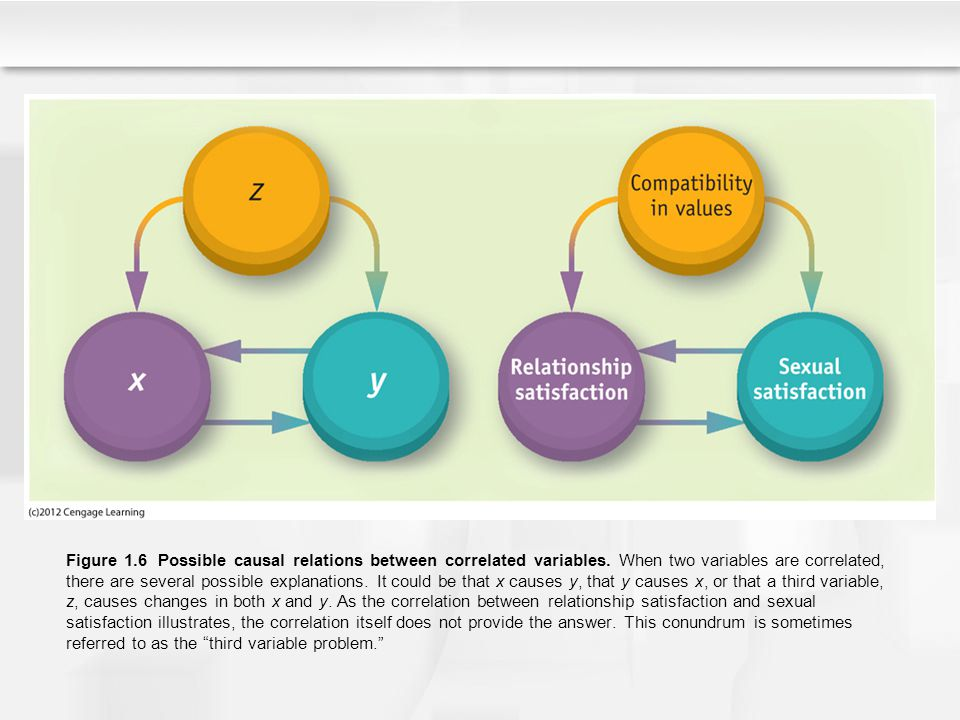 Figure 1. 6 Possible causal relations between correlated variables