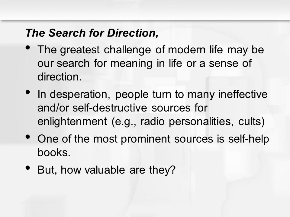 The Search for Direction,