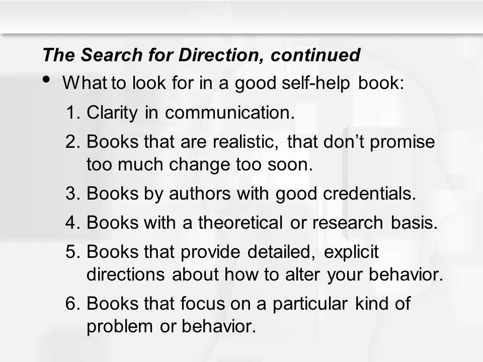 The Search for Direction, continued
