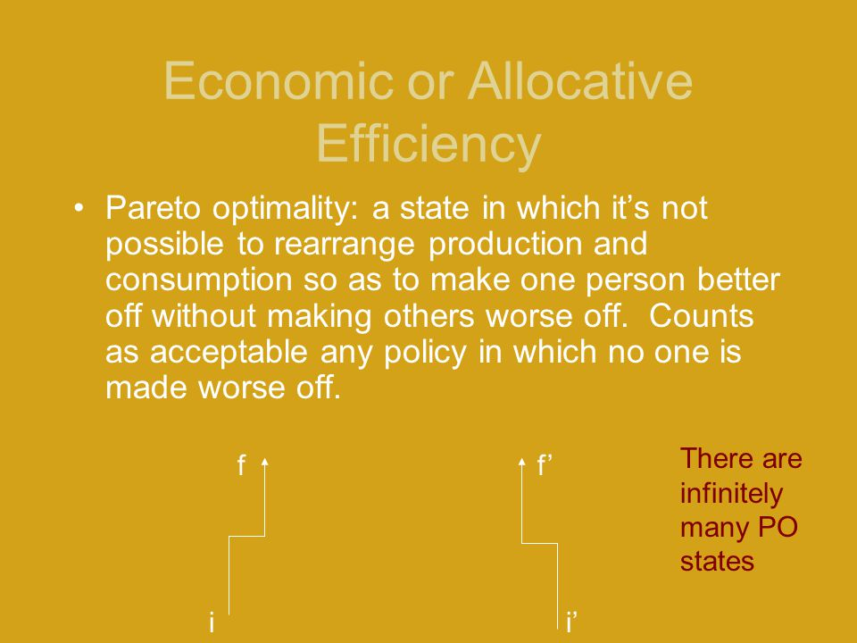 Economic or Allocative Efficiency