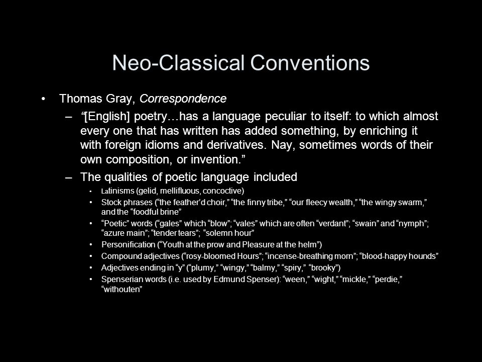 Neo-Classical Conventions