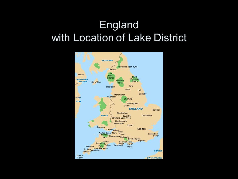 England with Location of Lake District
