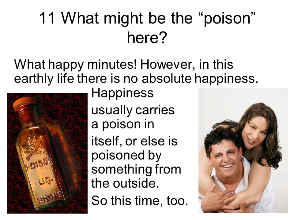 11 What might be the poison here