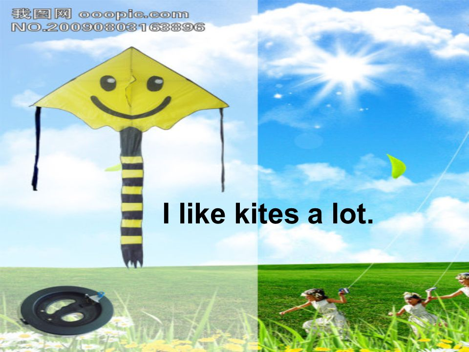 I like kites a lot.