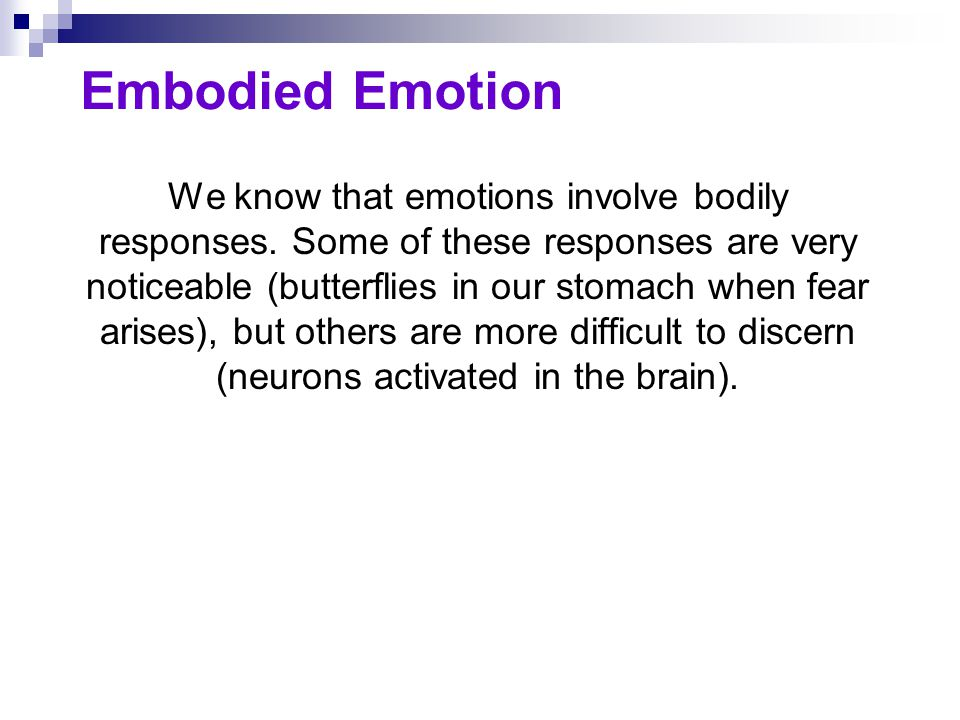 Embodied Emotion