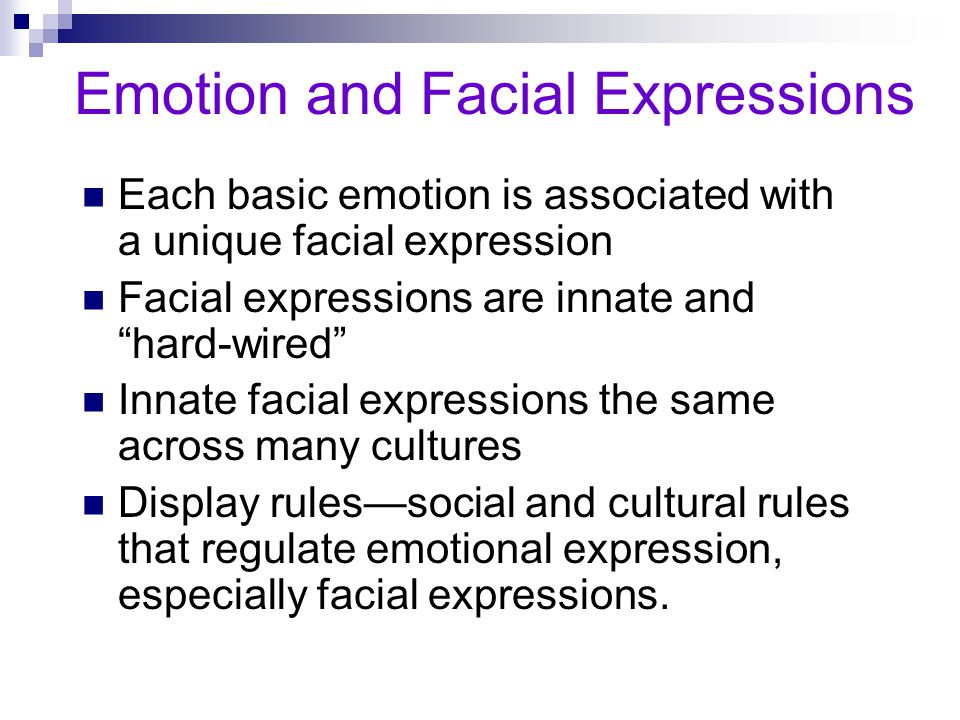 Emotion and Facial Expressions