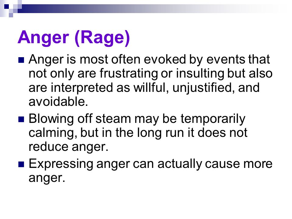Anger (Rage)