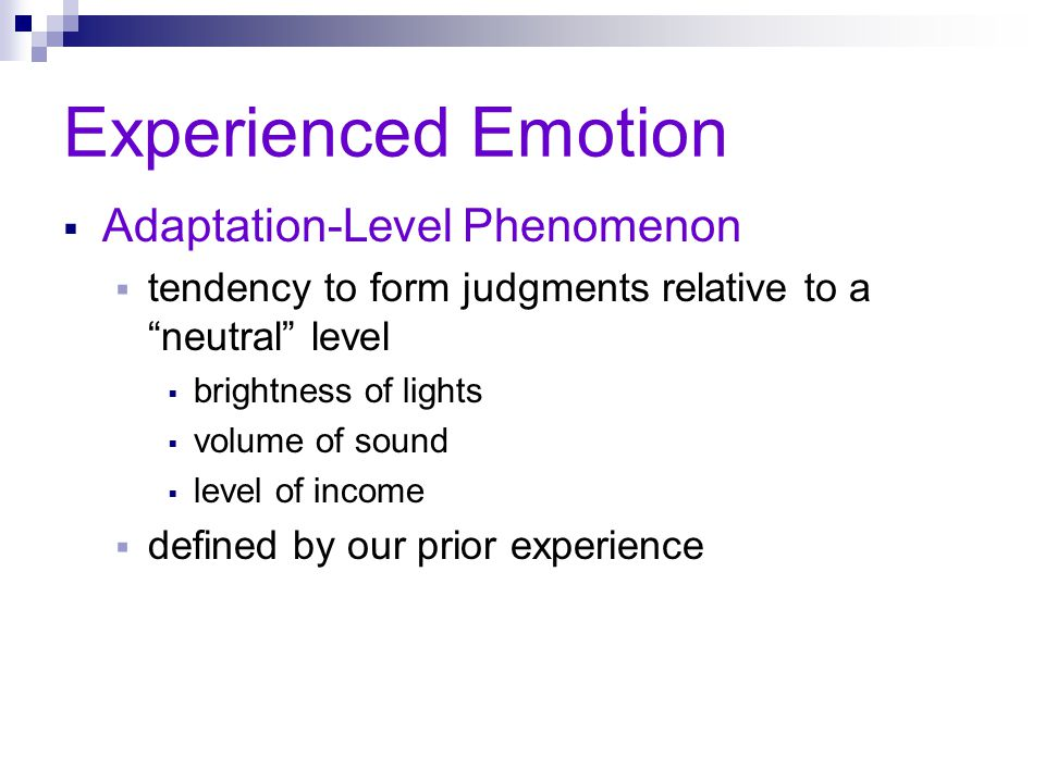 Experienced Emotion Adaptation-Level Phenomenon