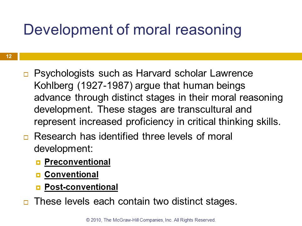 Development of moral reasoning