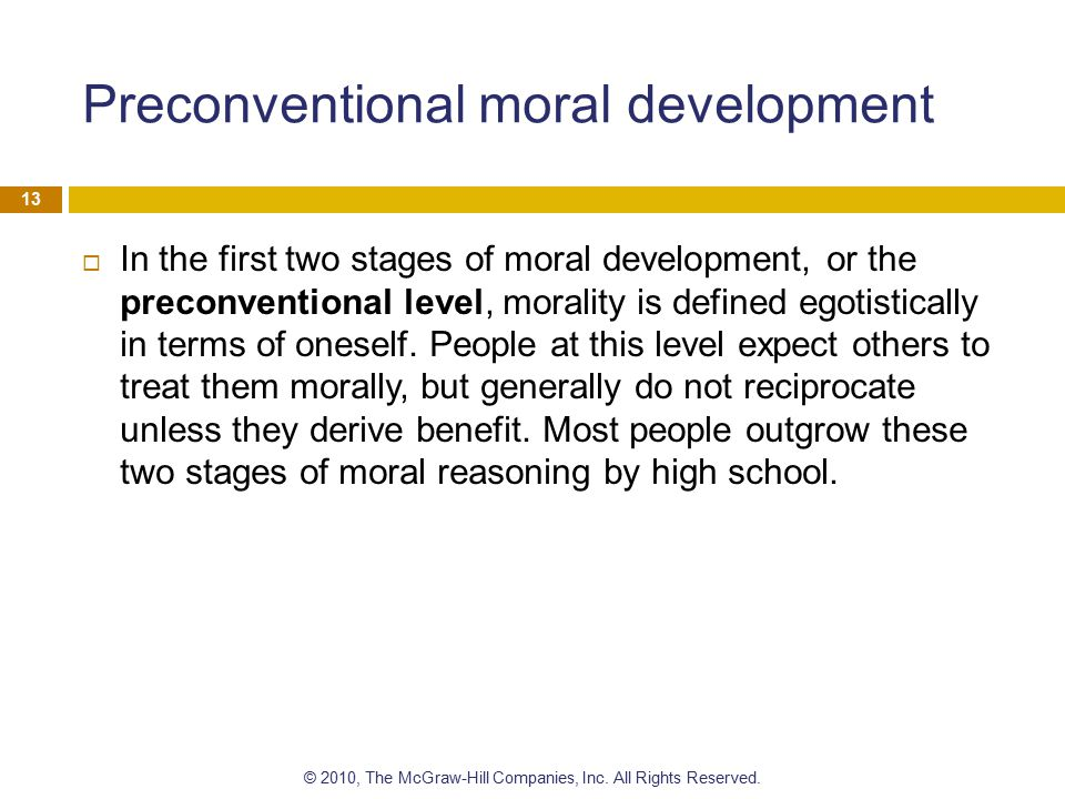 Preconventional moral development