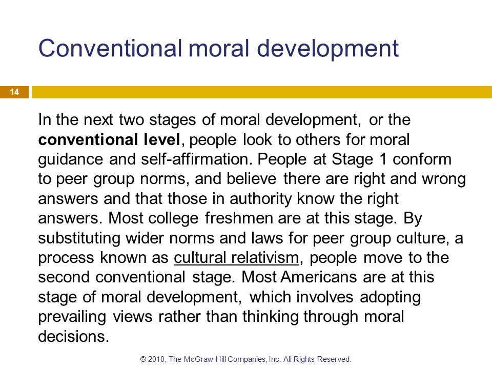 Conventional moral development