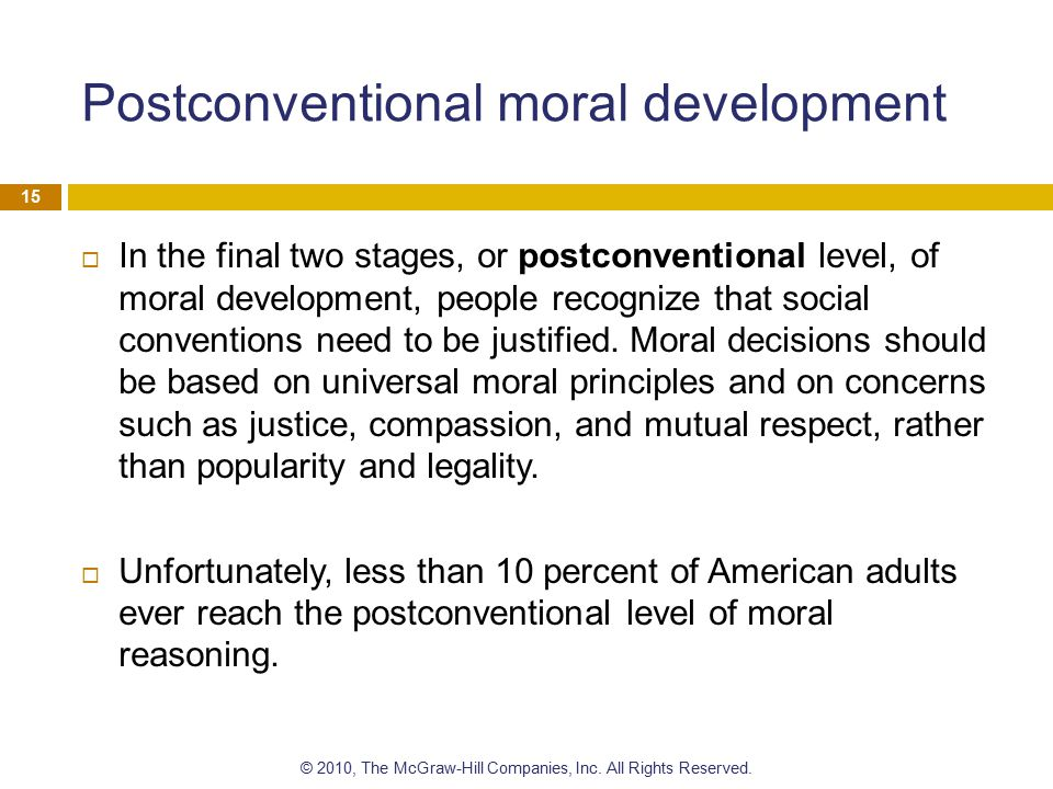 Postconventional moral development