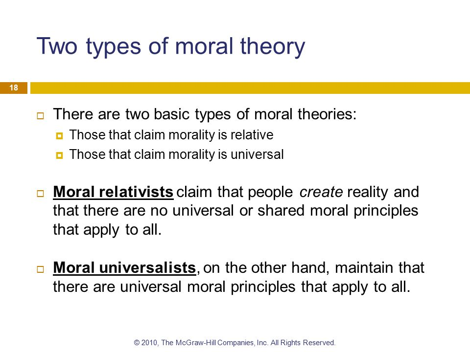 universal moral values examples