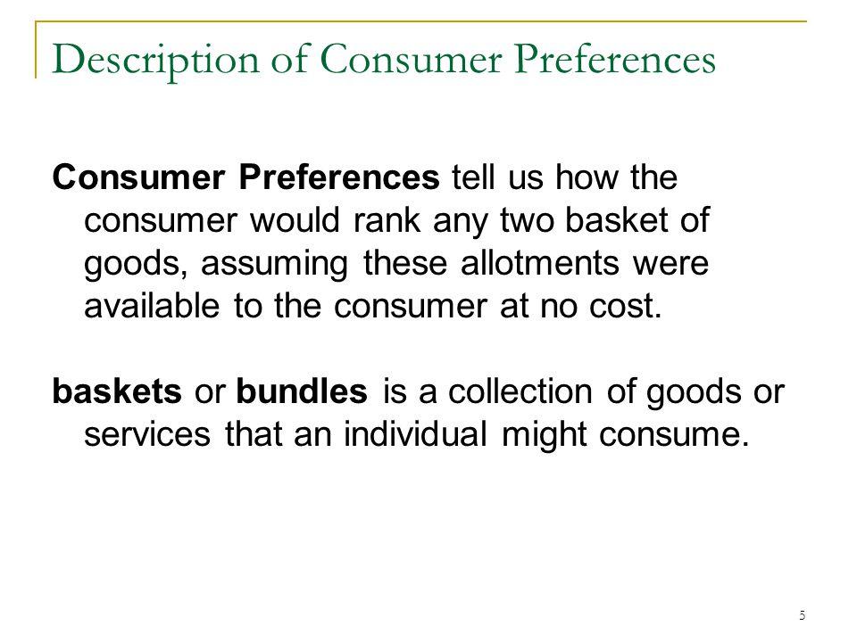 Description of Consumer Preferences