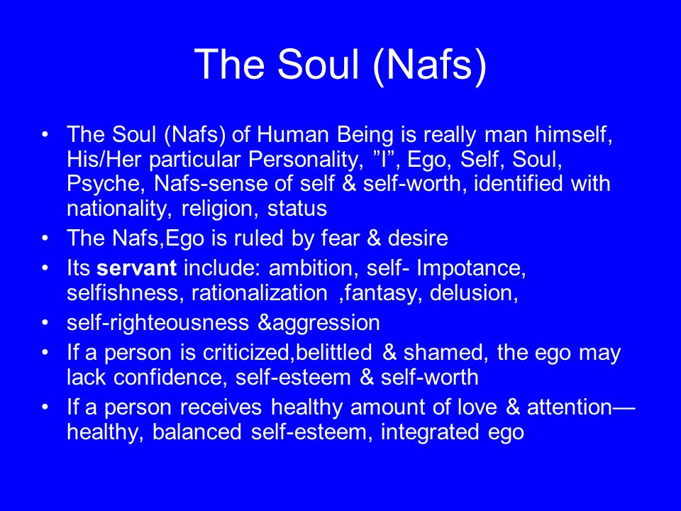The Soul (Nafs)