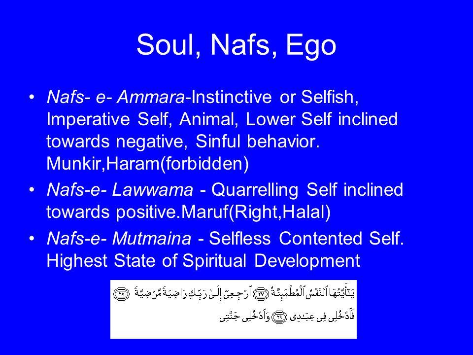 Soul, Nafs, Ego