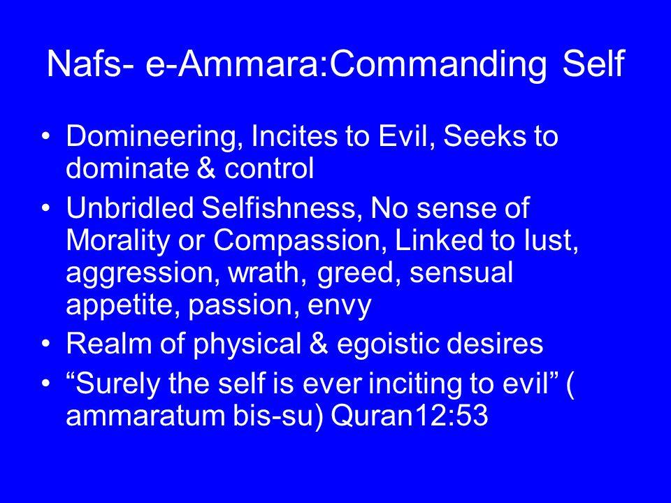 Nafs- e-Ammara:Commanding Self