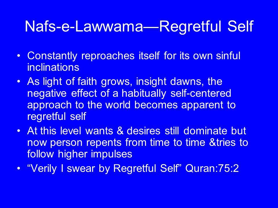 Nafs-e-Lawwama—Regretful Self