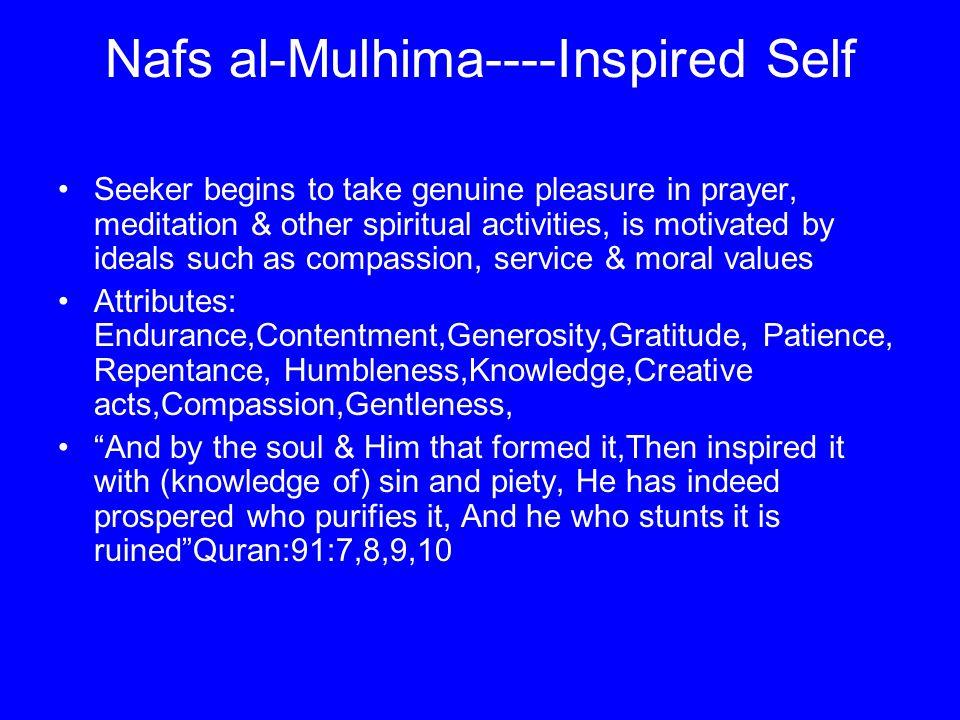 Nafs al-Mulhima----Inspired Self