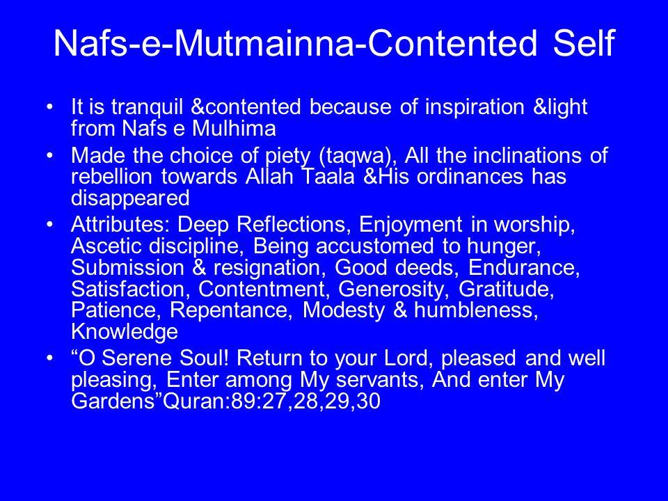 Nafs-e-Mutmainna-Contented Self