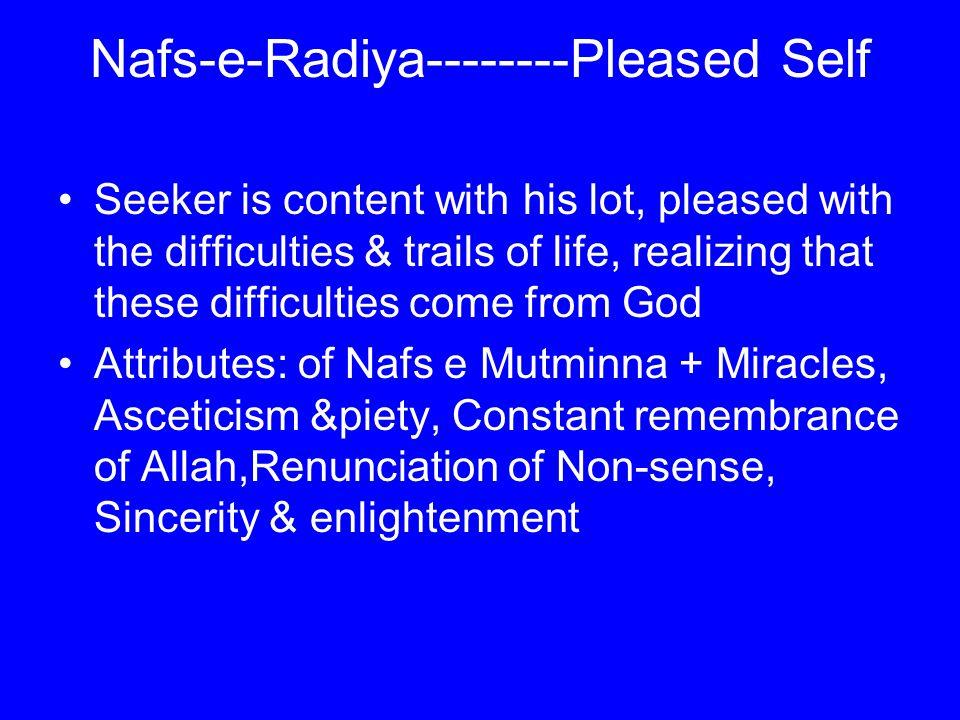 Nafs-e-Radiya--------Pleased Self
