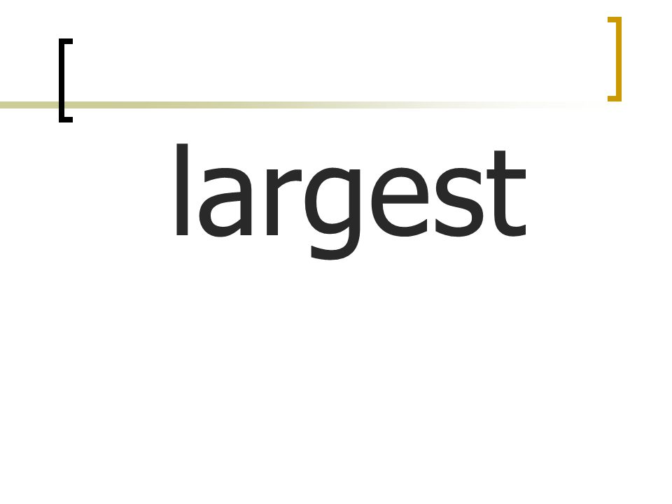 largest