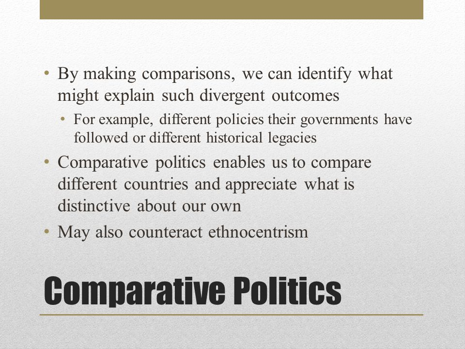 The Logic and Practice of Comparative Political Analysis