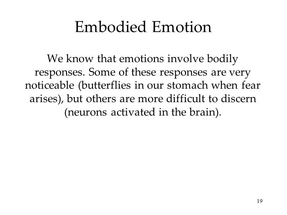 Embodied Emotion
