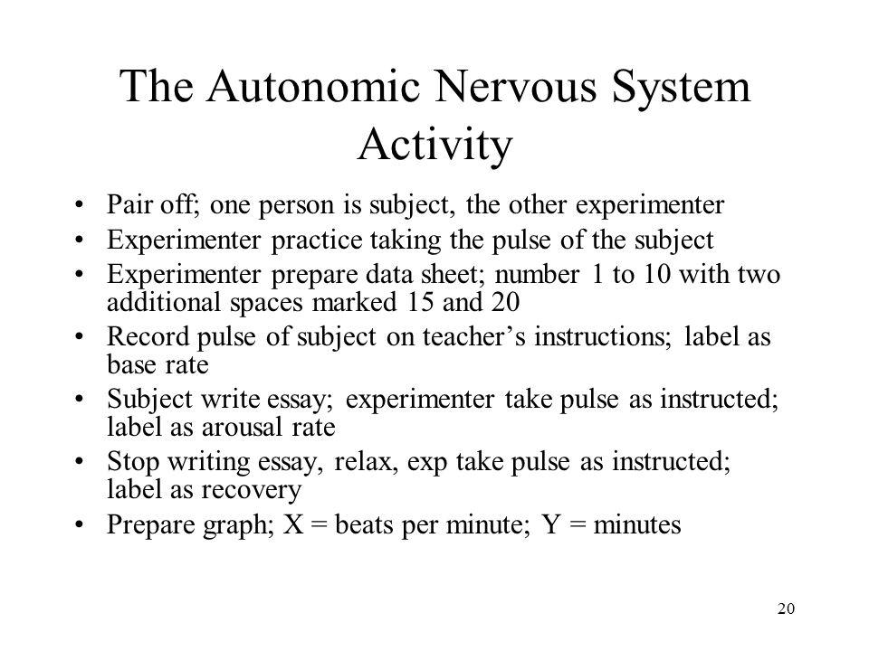The Autonomic Nervous System Activity