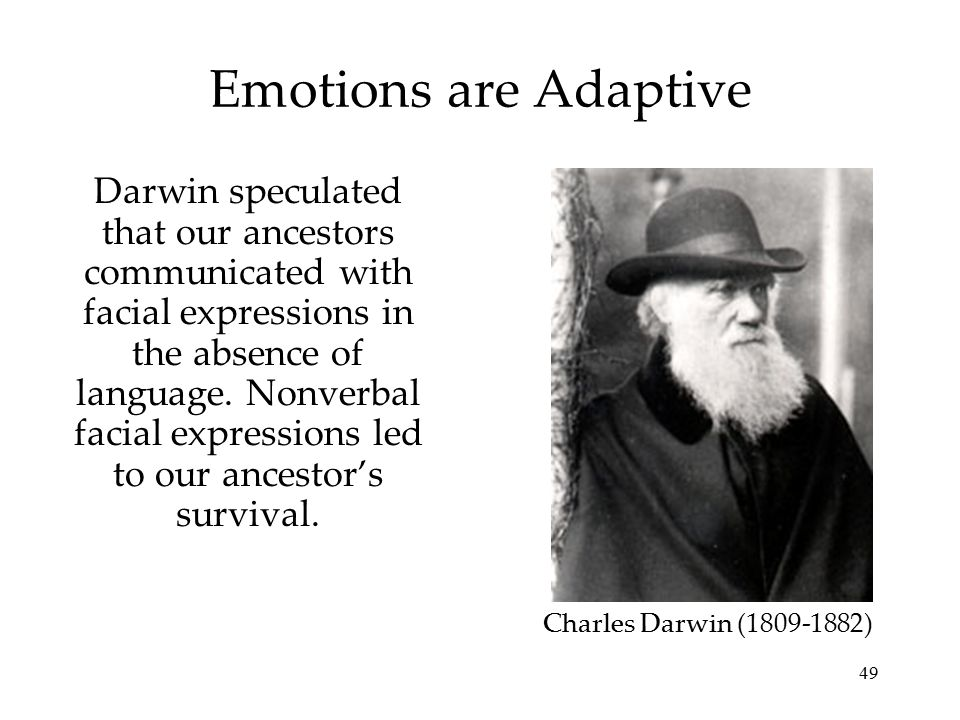 Emotions are Adaptive