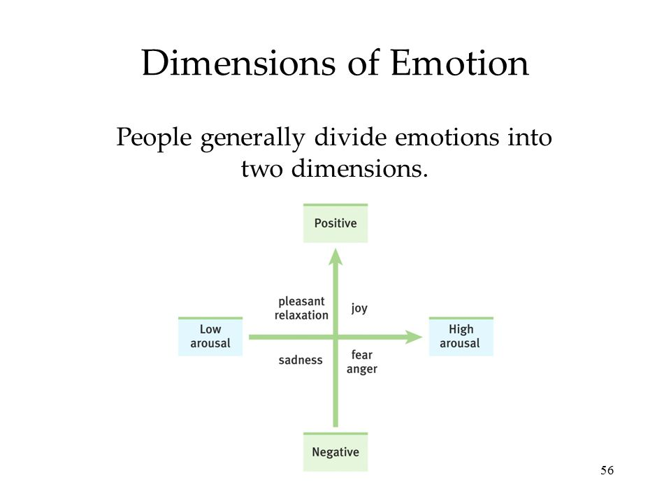 People generally divide emotions into