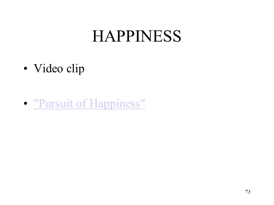 HAPPINESS Video clip Pursuit of Happiness