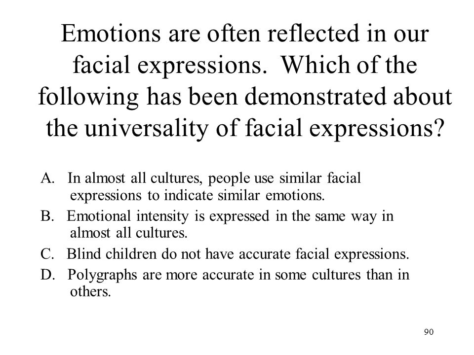 Emotions are often reflected in our facial expressions