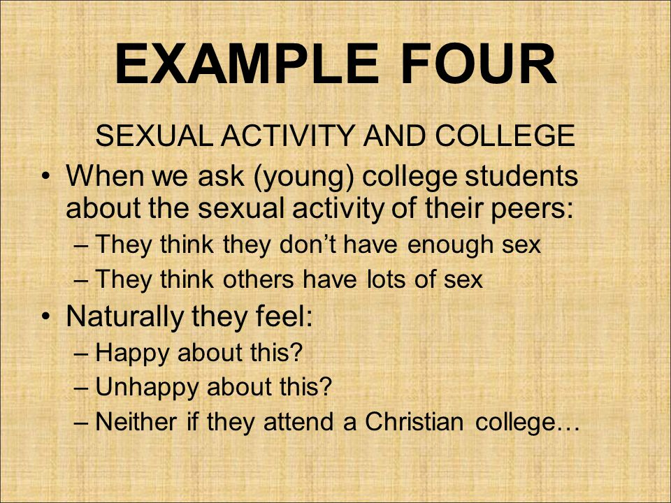 SEXUAL ACTIVITY AND COLLEGE