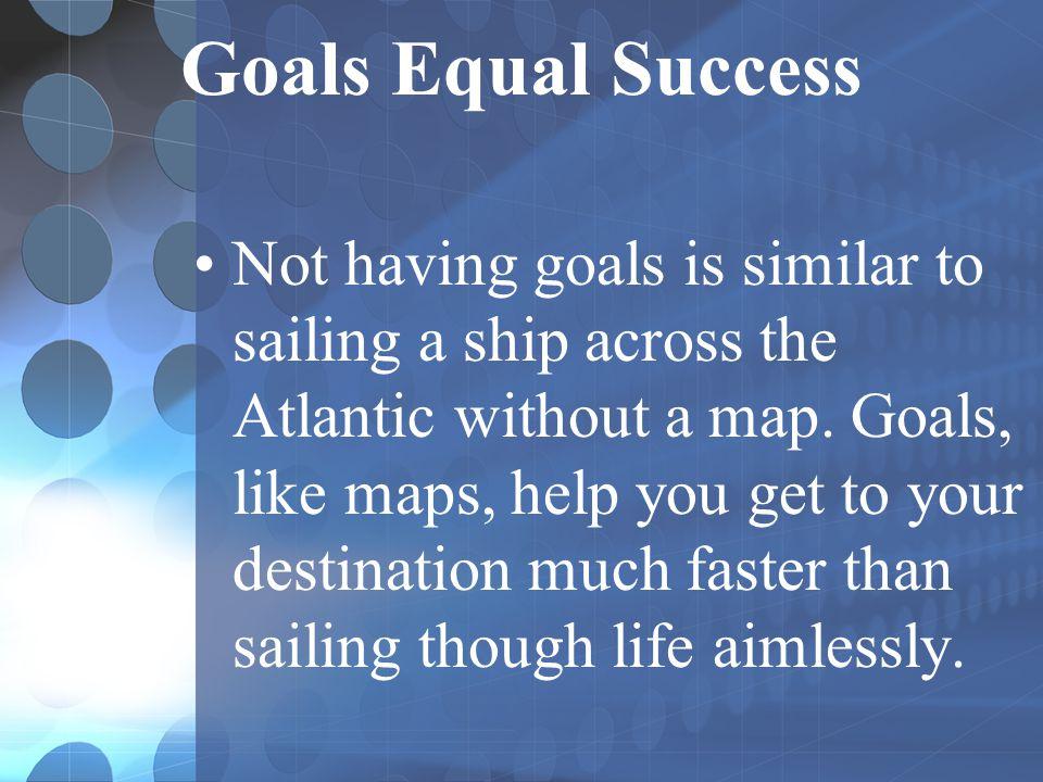 Goals Equal Success