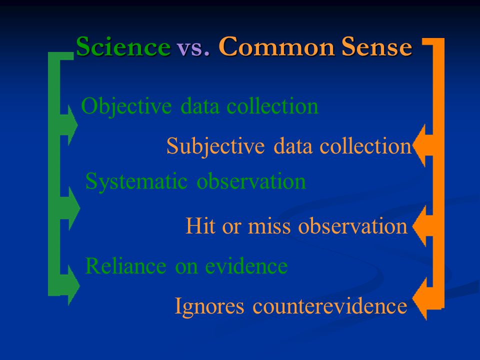 Science vs. Common Sense