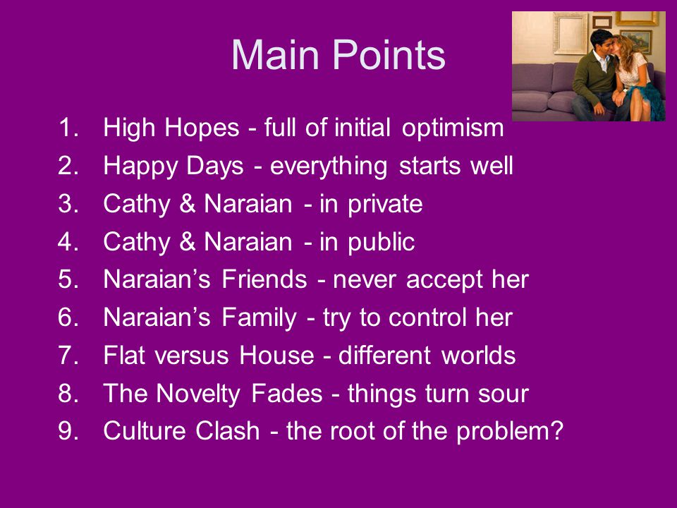 Main Points High Hopes - full of initial optimism