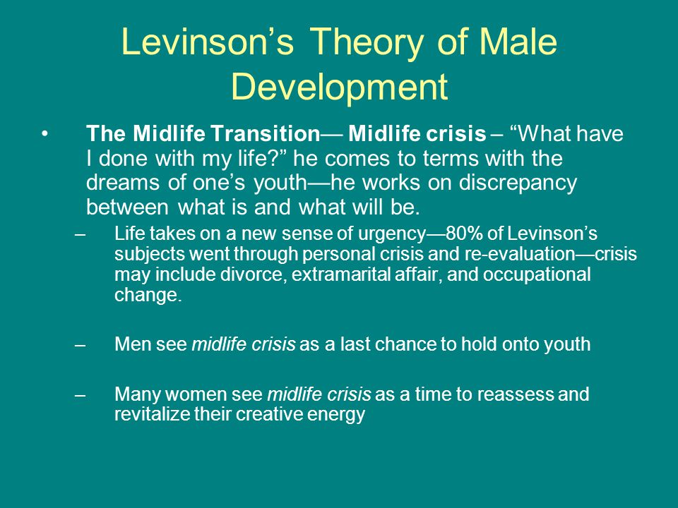 Levinson's Theory of Male Development