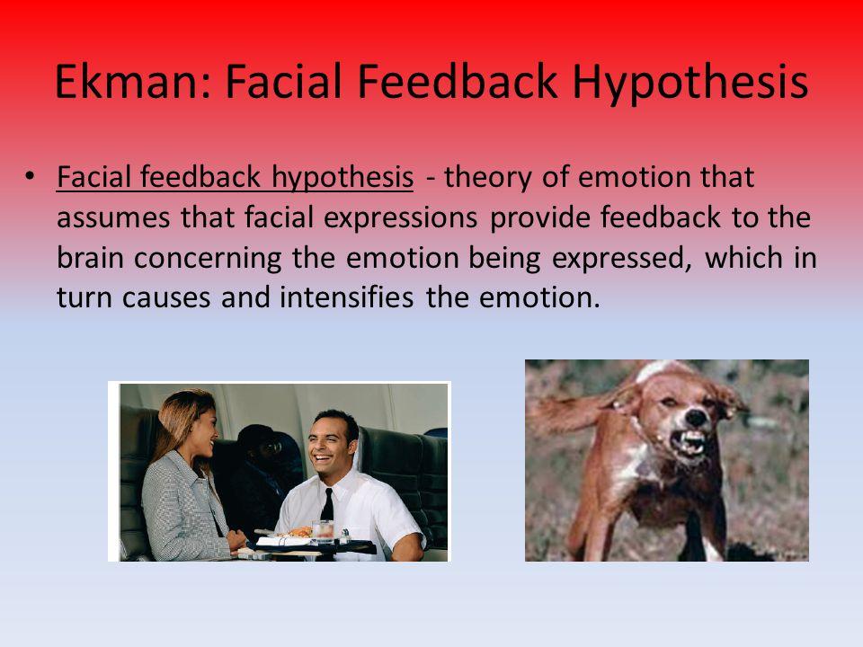 Ekman: Facial Feedback Hypothesis