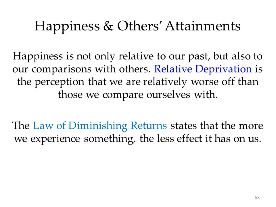 Happiness & Others' Attainments