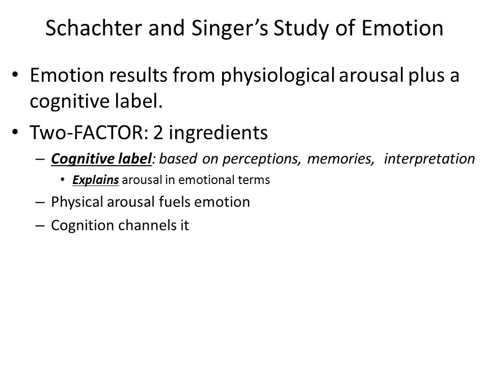Schachter and Singer's Study of Emotion