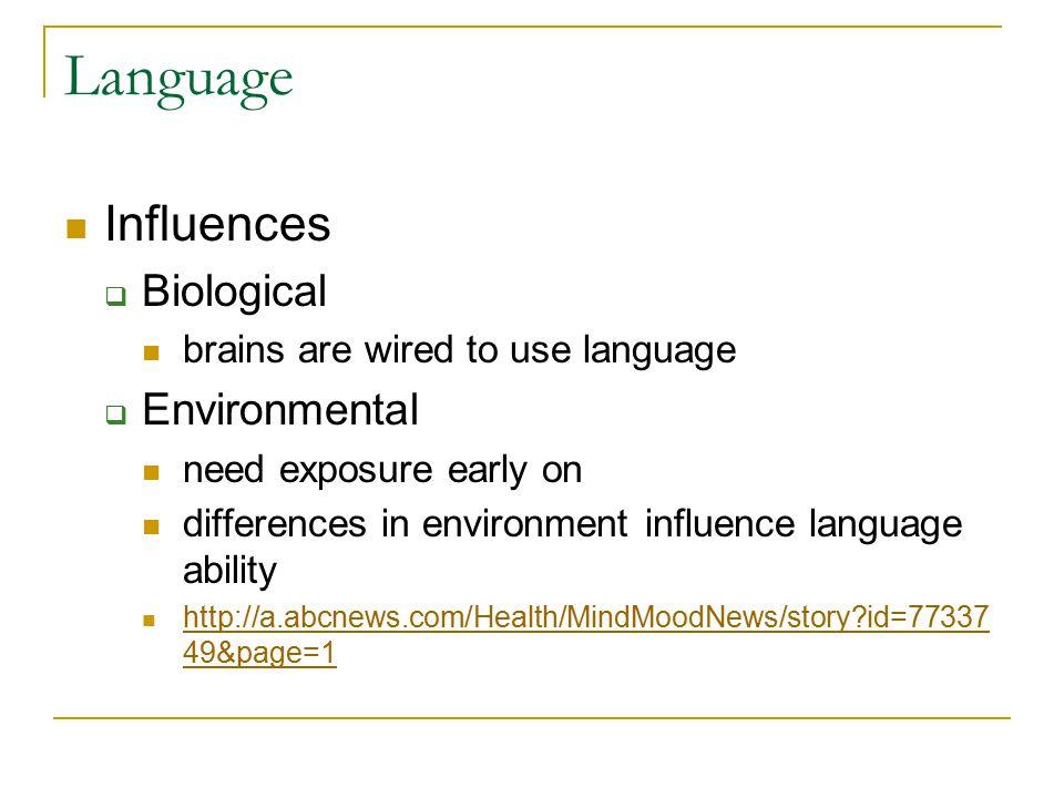 Language Influences Biological Environmental