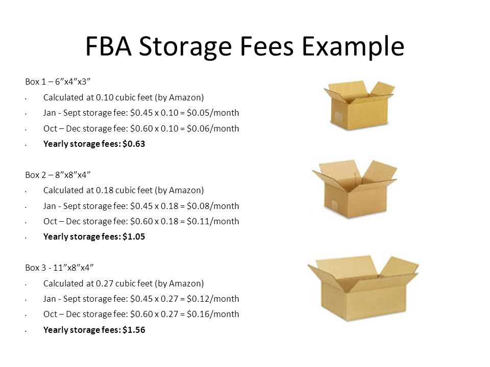 FBA Storage Fees Example