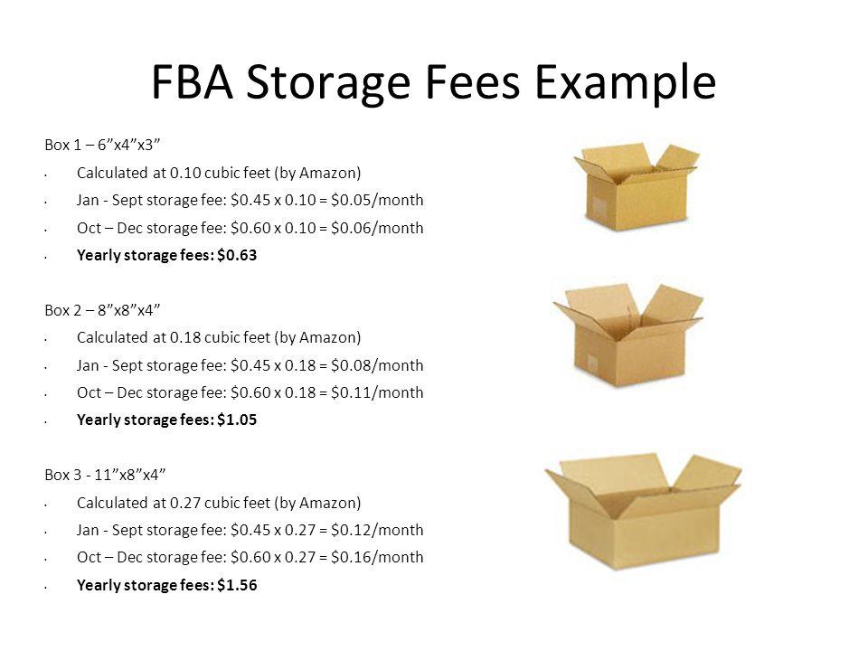 FBA Storage Fees Example