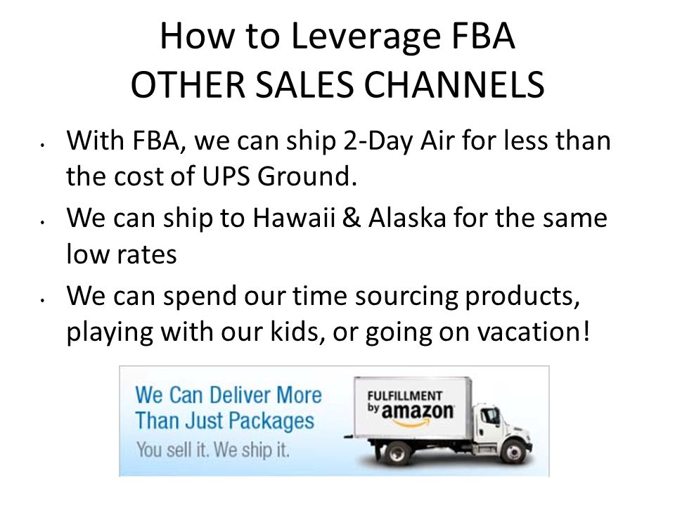 How to Leverage FBA OTHER SALES CHANNELS