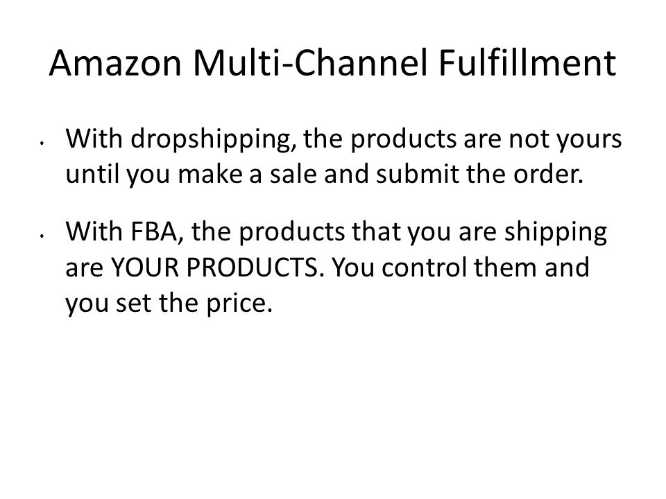 Amazon Multi-Channel Fulfillment